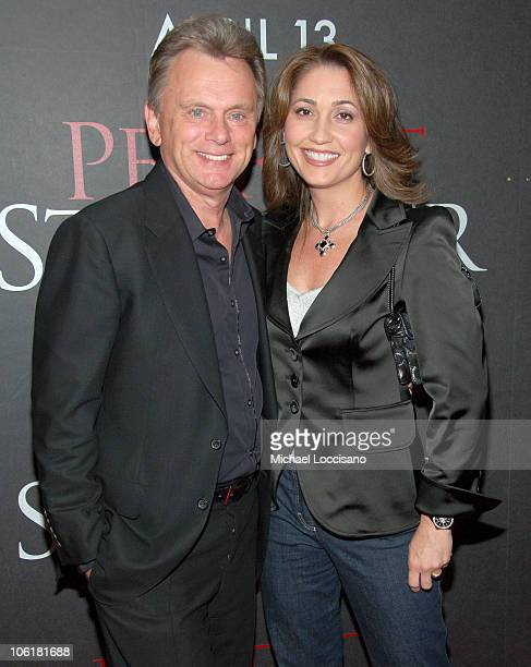 """Pat Sajak and Lesley Brown Sajak during """"Perfect Stranger"""" New York City Premiere - Arrivals at Ziegfeld Theater in New York City, New York, United..."""