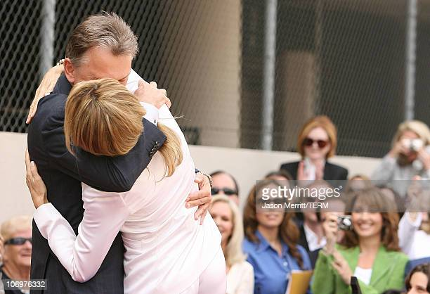 Pat Sajak and Vanna White during Vanna White Honored with a Star on the Hollywood Walk of Fame for Her Achievements in Television at Walk Of Fame in...