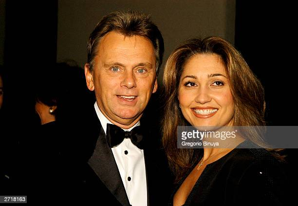 Pat Sajak and wife Lesley attend the 13th Annual Broadcasting Cable Magazine Hall of Fame November 10 in New York Sajak is a new inductee at the gala