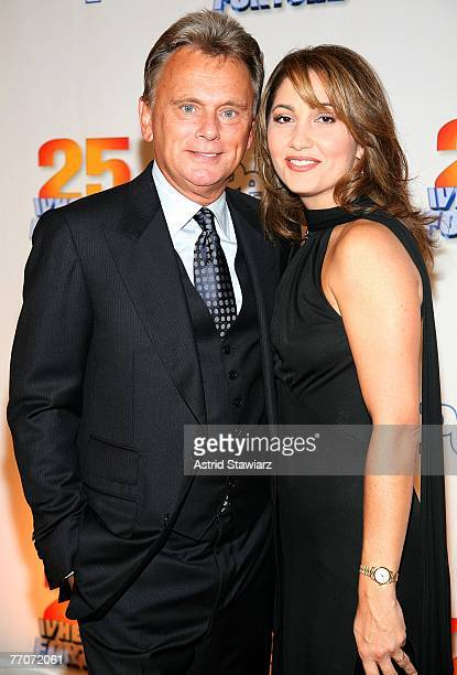 Pat Sajak and wife Lesley Brown Sajak attend the 25th anniversary celebration of the television game show Wheel Of Fortune at Radio City Music Hall...