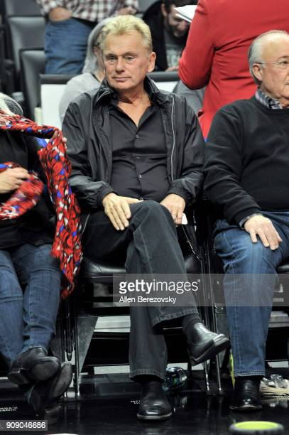 Pat Sajak attends a basketball game between the Los Angeles Clippers and the Minnesota Timberwolves at Staples Center on January 22 2018 in Los...