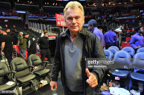 Pat Sajak attends a basketball game between the Los Angeles Clippers and the San Antonio Spurs at Staples Center on April 3 2018 in Los Angeles...