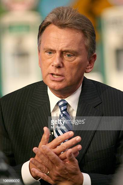 """Pat Sajak, Host of """"Wheel of Fortune"""" during """"Wheel of Fortune"""" and """"Jeopardy!"""" Celebrate the Switch to Sony HD with Alex Trebek, Vanna White and Pat..."""