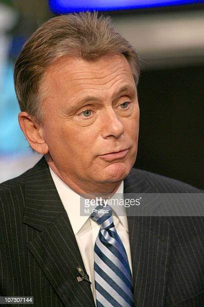 Pat Sajak Host of 'Wheel of Fortune' during 'Wheel of Fortune' and 'Jeopardy' Celebrate the Switch to Sony HD with Alex Trebek Vanna White and Pat...