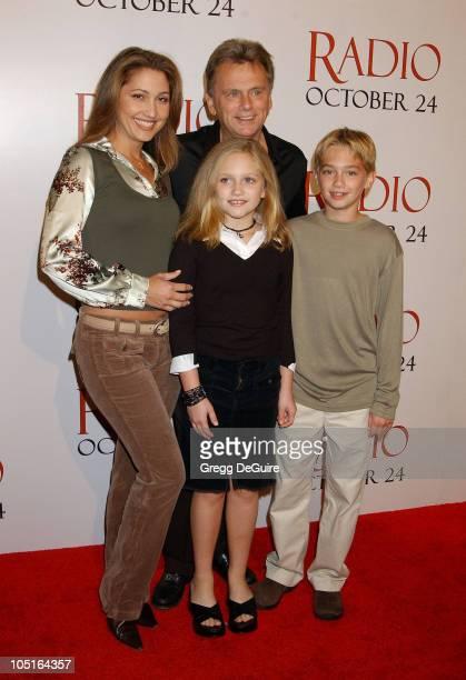Pat Sajak, Wife Lesley, Daughter Maggie & Son Patrick