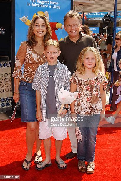 Pat Sajak wife Lesly kids Pat Maggie during Stuart Little 2 Premiere at Mann Village Theatre in Westwood California United States