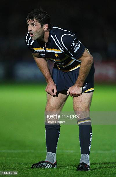 Pat Sanderson of Worcester looks on during the Guinness Premiership match between Worcester Warriors and Leeds Carnegie at Sixways on September 11,...