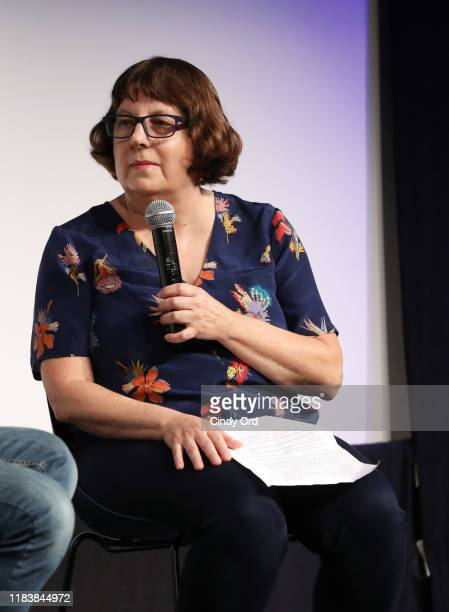 """Pat Saperstein speaks onstage at the screening of """"Missing Link"""" during the 22nd SCAD Savannah Film Festival on October 27, 2019 at SCAD Museum of..."""