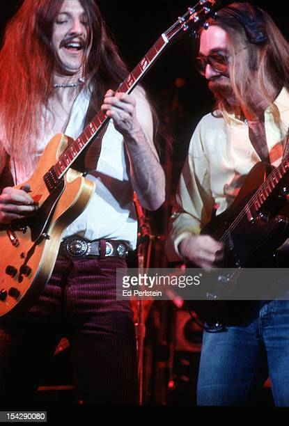 Pat Simmons and Jeff Baxter of the Doobie Brothers perform live at the Oakland Coliseum on December 30 1978 in Oakland California