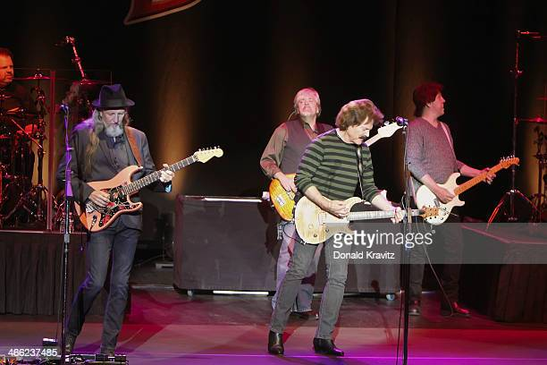 Pat Simmons John Cowan Tom Johnson and John McFee of the Doobie Brothers performs at The Concert Venue Harrah's on January 31 2014 in Atlantic City...