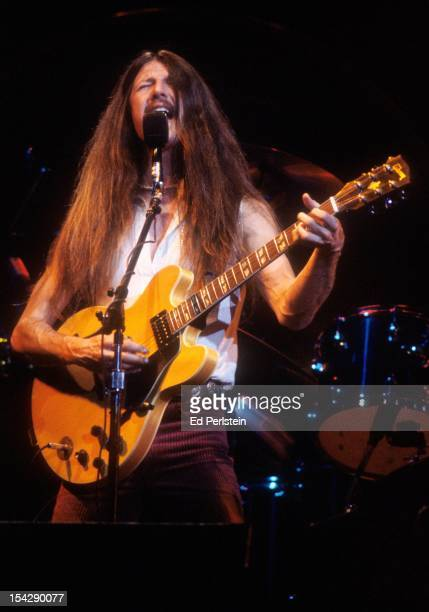 Pat Simmons of the Doobie Brothers performs live at the Oakland Coliseum on December 30 1978 in Oakland California