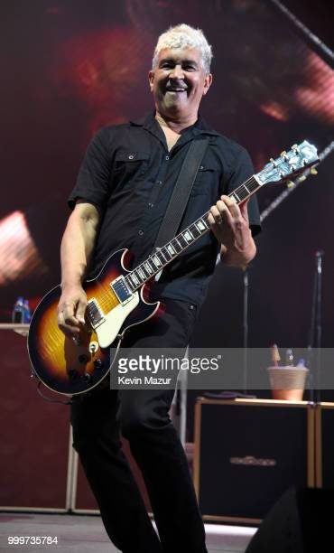 Pat Smear of Foo Fighters performs on stage during their Concrete and Gold tour at Northwell Health at Jones Beach Theater on July 14 2018 in Wantagh...