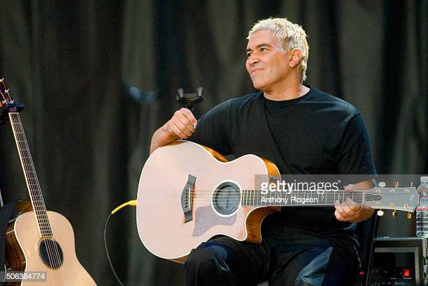 Pat Smear of Foo Fighters performs onstage at The Bridge School Concert, at Shoreline Amphitheater in Mountain View, California, USA on 21st October...
