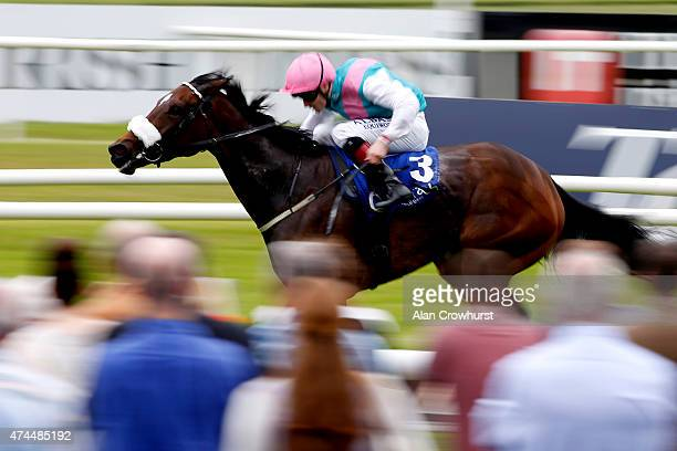 Pat Smullen riding Brooch win The Lanwades Stud Stakes at Curragh racecourse on May 23 2015 in Kildare Ireland