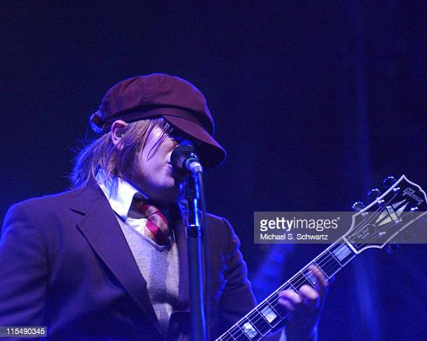 Pat Stump of Fall Out Boy during Nintendo Fusion Tour October 27 2005 at The Wiltern Theater in Los Angeles California United States