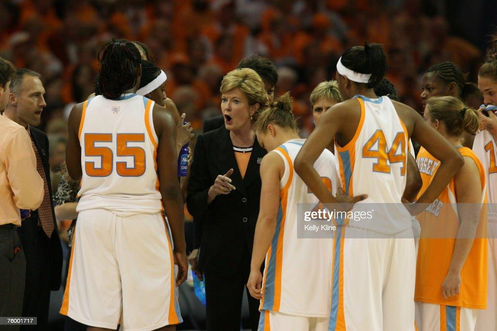 NCAA Women's Basketball - 2007 NCAA Tournament - Championship Game - Rutgers vs Tennessee : News Photo