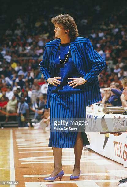Pat Summitt head coach of the Tennessee Lady Volunteers watches her team from the sidelines during a game with the Louisiana Tech Lady Techsters...