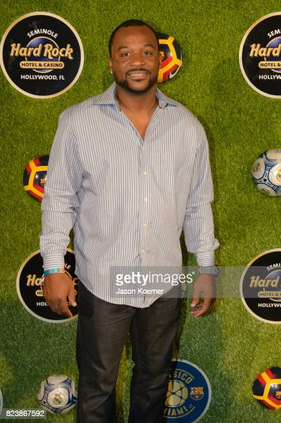 Pat Surtain attends Former FIFA Player of the Year Luis Figo's International Champions Cup official El Clsico Miami VIP Party with special...