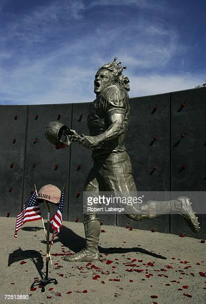 Pat Tillman who was killed in Afghanistan in 2004 after quitting the NFL's Arizona Cardinals to join the US Army Rangers was honored with a statue...