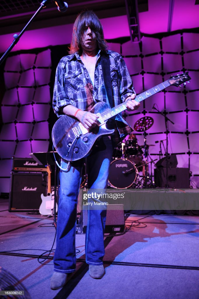 Pat Travers performs at The Classic Rock And Roll Party to benefit HomeSafe at Seminole Hard Rock Hotel on March 2, 2013 in Hollywood, Florida.
