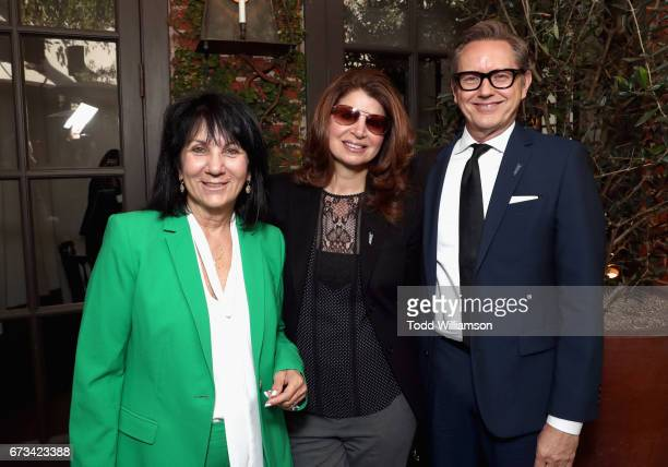 Pat Wheeler Denise Colletta and Mark Johnson attend The Hollywood Reporter Power Lawyers Breakfast 2017 at Spago on April 26 2017 in Beverly Hills...