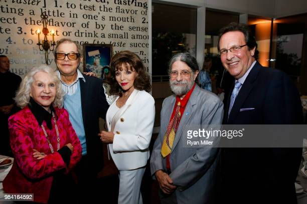 Pat York actor Michael York Joan Collins photographer Christopher Rauschenberg and Percy Gibson attend Icons of Style A Century of Fashion...