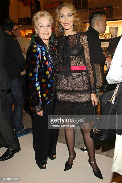 Pat York and Marisa Berenson attend LOUIS VUITTON presents OLAFUR ELIASSON at LOUIS VUITTON on Fifth Avenue on November 9 2006 in New York City