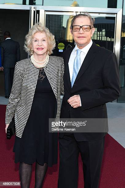 Pat York and Michael York attend The Broad Museum Opening Celebration at The Broad on September 18 2015 in Los Angeles California