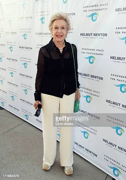 Pat York attends the Helmut Newton opening night exhibit at Annenberg Space For Photography on June 27 2013 in Century City California