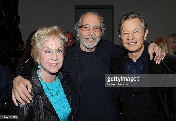 Pat York Herb Alpert artist and Michael York actor attend the Black Totem Series Artist Reception held at Ace Gallery on February 4 2010 in Beverly...