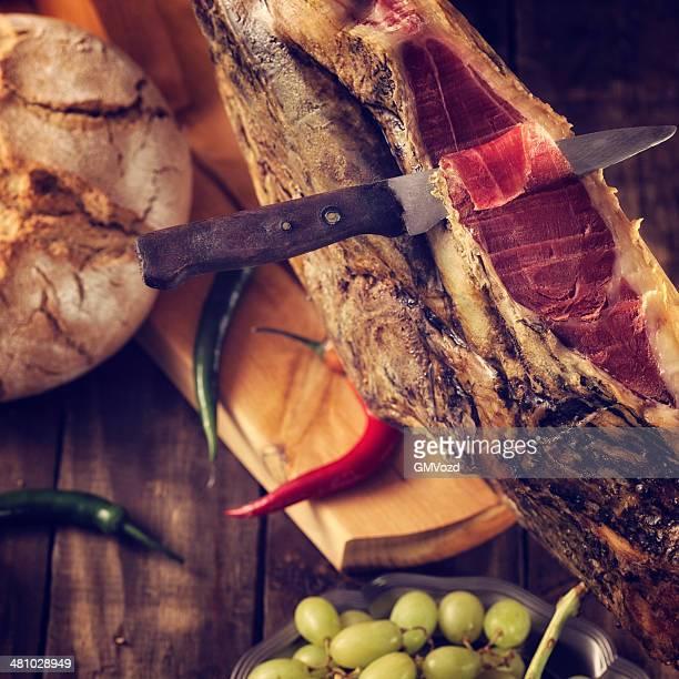 pata negra - serrano ham stock photos and pictures