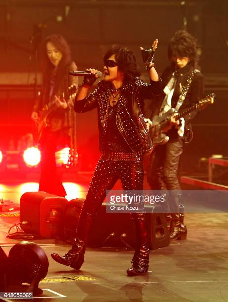 Pata Toshi and Heath of X Japan perform at Wembley Arena on March 4 2017 in London United Kingdom