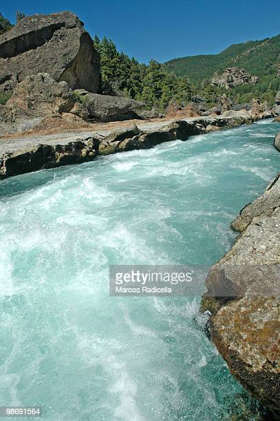 patagonia caleufu river - radicella stock photos and pictures