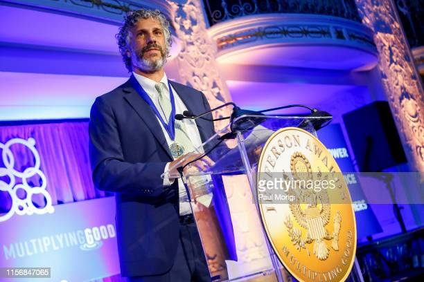Patagonia Environmental Advocate Avi Garbow accepts the Outstanding Public Service by a Corporation on behalf of the company for its longstanding...