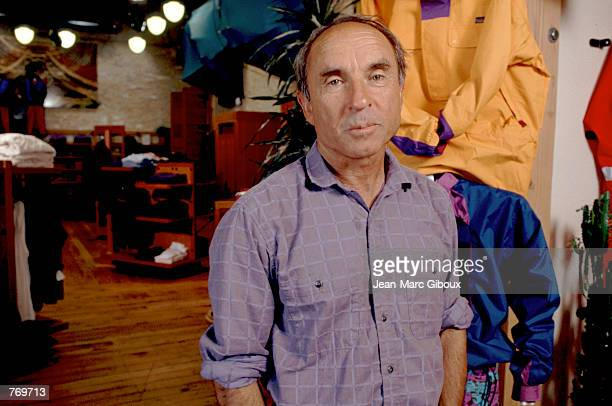 Patagonia store owner Yvon Chouinard poses in his shop November 21 1993 in California