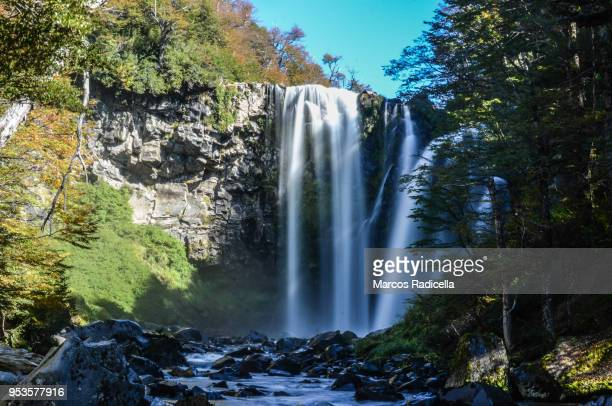 patagonian cascade - radicella stock pictures, royalty-free photos & images