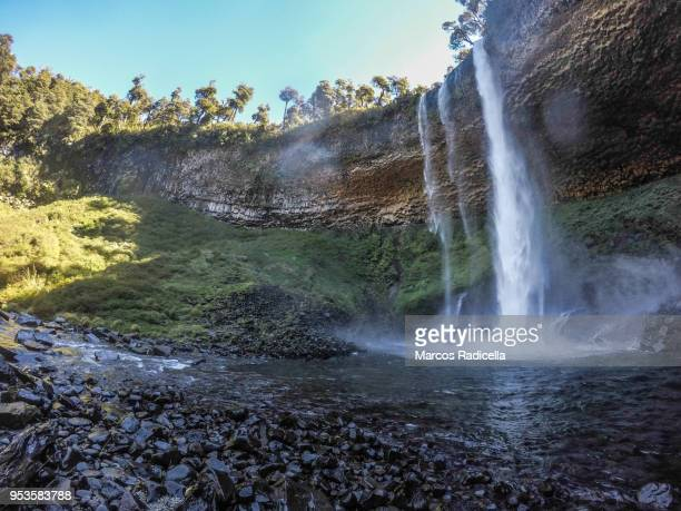 patagonian cascade - radicella stock photos and pictures