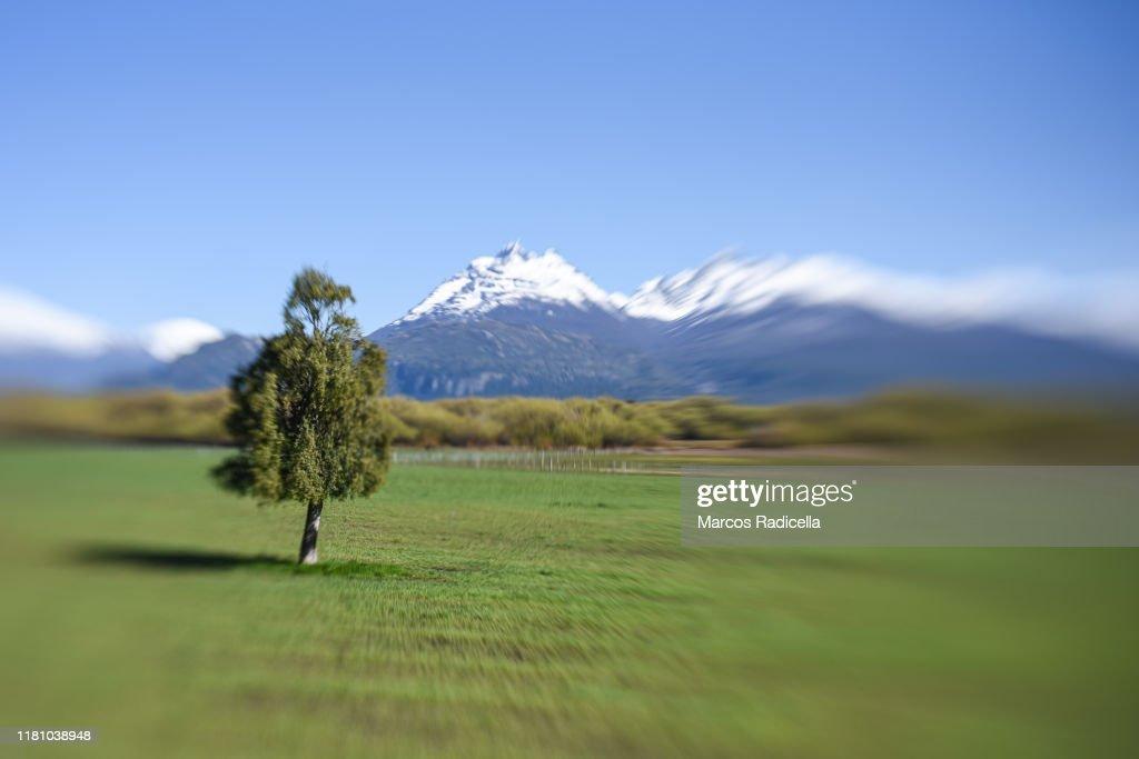 Patagonian landscape : Stock Photo