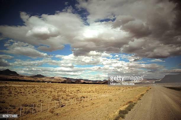 patagonian road - radicella stockfoto's en -beelden