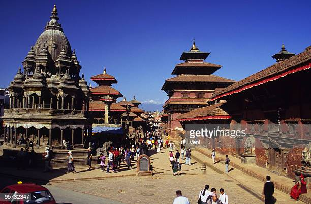 patan durbar square, kathmandu valley, nepal - nepal stock pictures, royalty-free photos & images