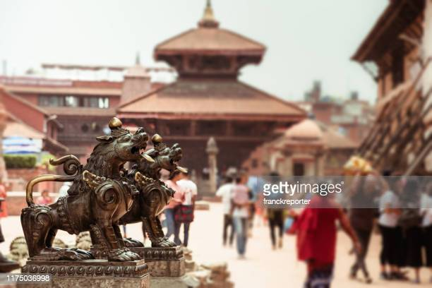 patan urban scene in kathmandu - kathmandu stock pictures, royalty-free photos & images