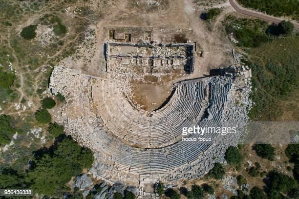 patara ancient theater antalya - antalya province stock pictures, royalty-free photos & images