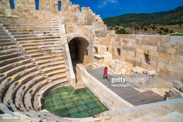 patara is also a tourist. patara ancient city. - kas stock pictures, royalty-free photos & images