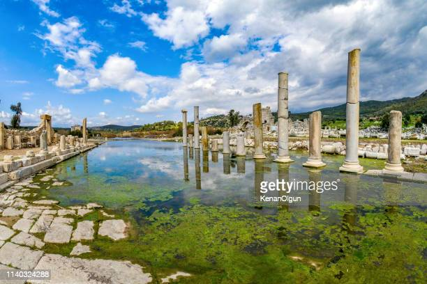 patara king way. patara ancient city from turkey. - aegean turkey stock pictures, royalty-free photos & images