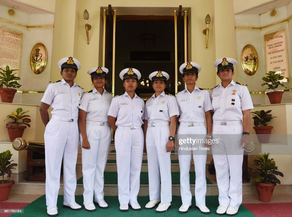 Prime Minister Narendra Modi Meets All-Woman Crew Of INSV Tarini