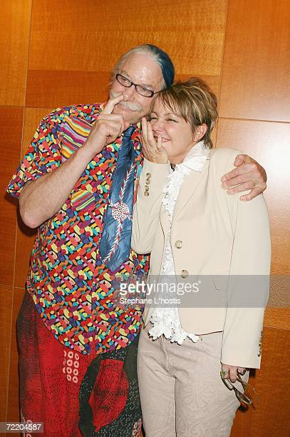 Patch Adams and Susan Welch pose at the An Evening With Patch Adams Fundraiser at the Sofitel Wentworth on October 18, 2006 in Sydney, Australia. The...