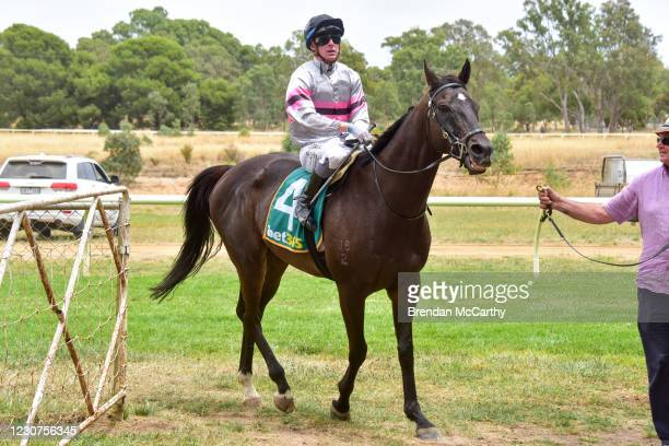 Patch Adams ridden by Harry Coffey returns to the mounting yard after winning the SEPPELT Great Western Cup at Great Western Racecourse on January...