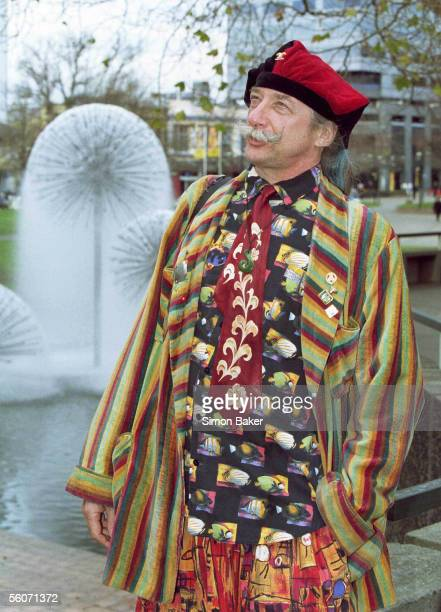 Patch Adams the American doctor who's life was made into a movie admires the sights of Christchurch's Victoria Park