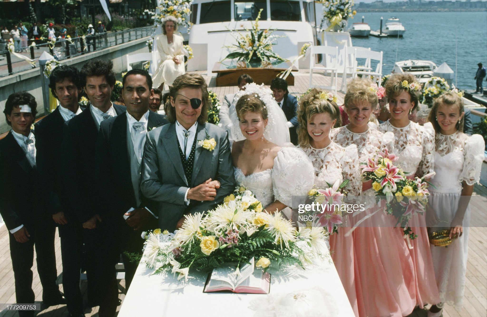 patch-johnson-kayla-brady-1st-wedding-pictured-billy-warlock-as-picture-id177209753
