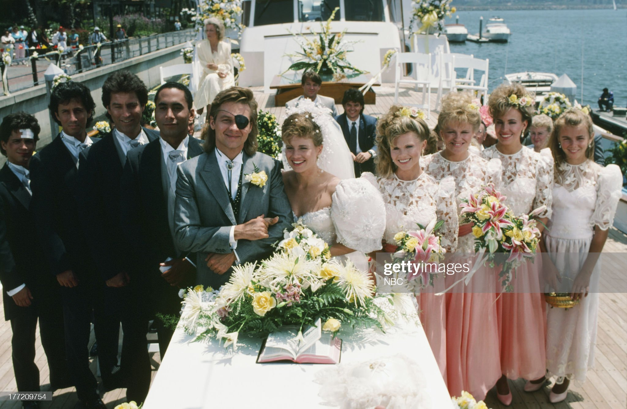 patch-johnson-kayla-brady-1st-wedding-pictured-billy-warlock-as-picture-id177209754
